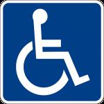 Imagem com o símbolo internacional de acessibilidade.